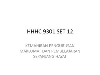 HHHC 9301 SET 12