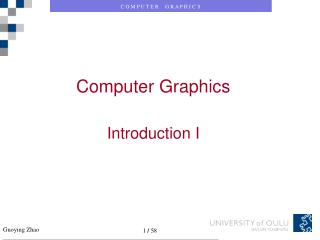 Computer Graphics Introduction I