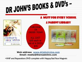 Web address :  drjohnirvine Email: media@thereadclinic