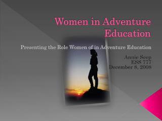 Women in Adventure Education
