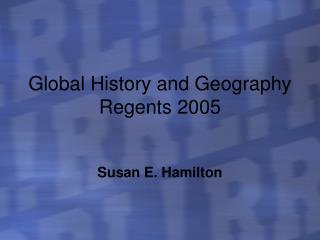 Global History and Geography Regents 2005