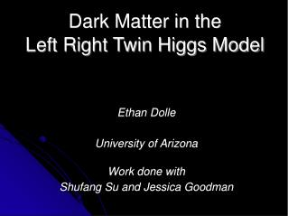 Dark Matter in the Left Right Twin Higgs Model