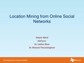 Location Mining from Online Social Networks