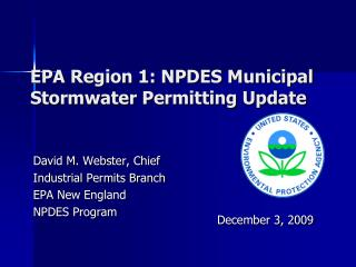 EPA Region 1: NPDES Municipal Stormwater Permitting Update