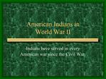 American Indians in  World War II