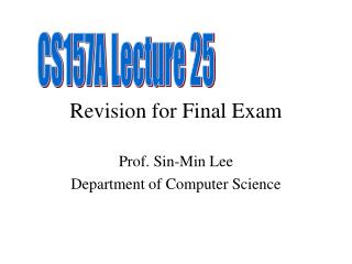 Revision for Final Exam