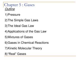 Chapter 5 : Gases