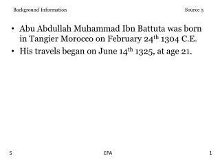 Background Information Source 5