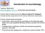Introduction to neurobiology