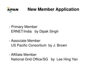New Member Application