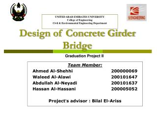 Design of Concrete Girder Bridge
