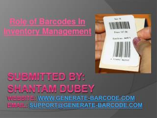 Role of Barcodes In Inventory Management
