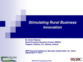 Stimulating Rural Business Innovation