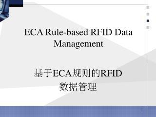 ECA Rule-based RFID Data Management