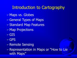 Introduction to Cartography