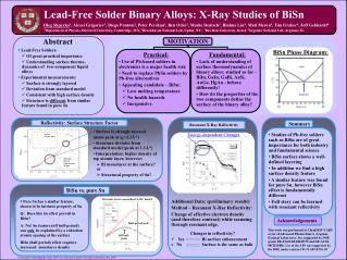 Lead-Free Solder Binary Alloys: X-Ray Studies of BiSn