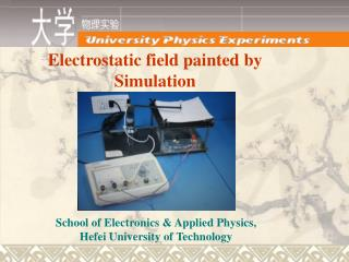 Electrostatic field painted by Simulation