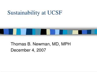 Sustainability at UCSF