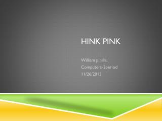Hink pink