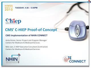 CMS' C-HIEP Proof-of Concept