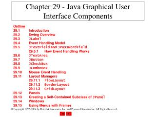 Chapter 29 - Java Graphical User Interface Components