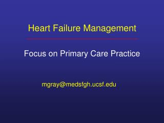 Heart Failure Management