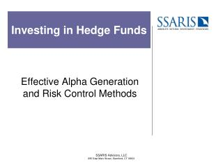 Investing in Hedge Funds