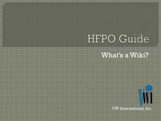 HFPO Guide