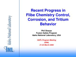 Recent Progress in Flibe Chemistry Control, Corrosion, and Tritium Behavior