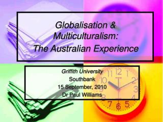 Globalisation & Multiculturalism: The Australian Experience