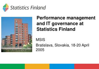 Performance management and IT governance at Statistics Finland