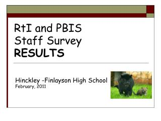 RtI and PBIS  Staff Survey RESULTS