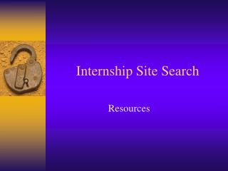 Internship Site Search