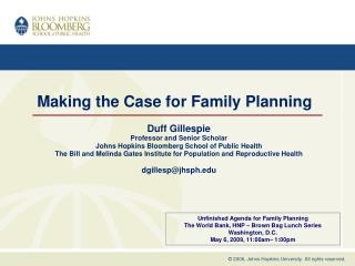 Making the Case for Family Planning