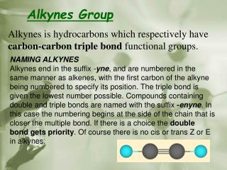 Alkynes Group