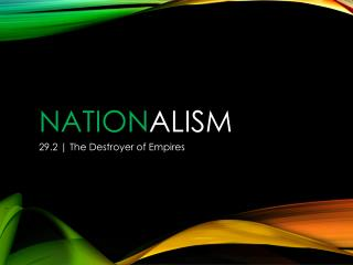 Nation alism