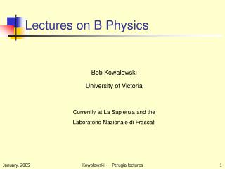Lectures on B Physics