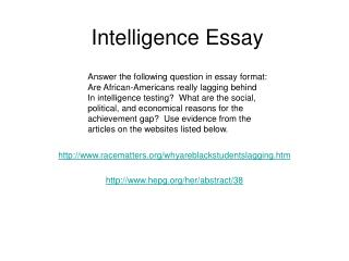 Intelligence Essay