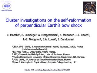 Cluster investigations on the self-reformation     of perpendicular Earth's bow shock