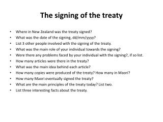 The signing of the treaty