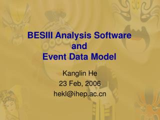 BESIII Analysis Software  and Event Data Model