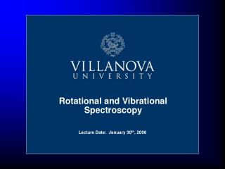Rotational and Vibrational Spectroscopy