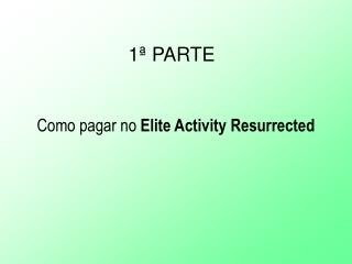 Treinamento Elite Activity