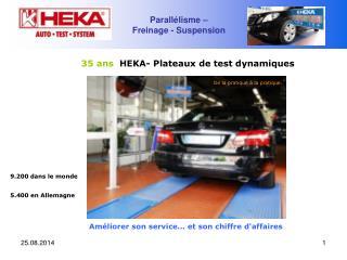 35 ans   HEKA- Plateaux de test dynamiques