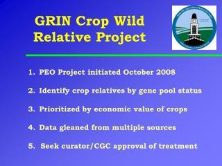 GRIN Crop Wild Relative Project