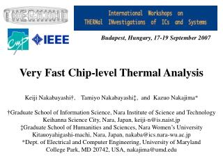 Very Fast Chip-level Thermal Analysis