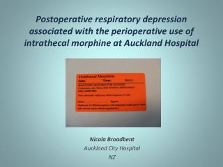 Nicola Broadbent Auckland City Hospital  NZ