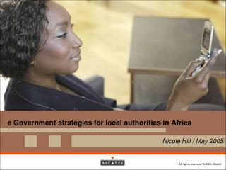 e Government strategies for local authorities in Africa