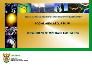 SOCIAL AND LABOUR PLAN