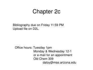 Chapter 2c